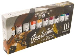 Pre tested Fine Crafted Artists Oil Paint Set 10 Colors by Chartpak