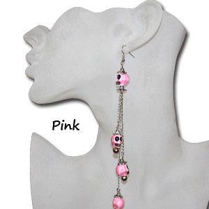 Skull chain earrings mardis gras earrings voodoo earrings cheap