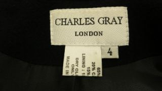 Charles Gray London Super Cute Wool Cashmere Long Coat Jacket Womens 4