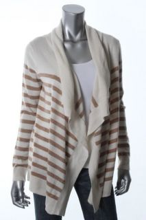 Cece New Ivory Cashmere Striped Drapey Cardigan Sweater P s BHFO