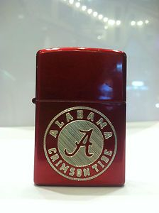Custom Engraved Alabama Crimson Tide Logo Zippo Front and Back