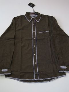 Cedric Brown Plaid English Laundry LS Shirt Longsleeve Mens Button Up