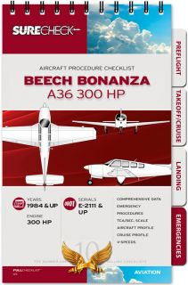 Surecheck Beech Bonanza A36 300HP Spiral Bound Checklist