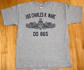 US USN Navy USS Charles R Ware DD 865 T Shirt