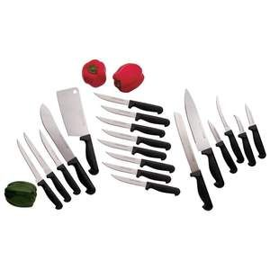 CHEF S SECRET 19 PIECE HIGH QUALITY STAINLESS STEEL KNIFE SET