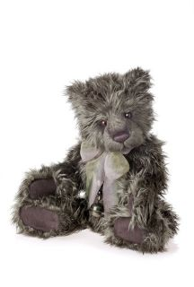 Charlie Bears CB124991 Brunswick Shaggy Grey Plush Teddy Bear