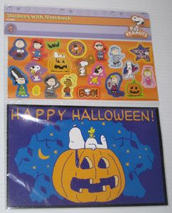 Halloween Costume Character Sticker Book Set Charlie Brown Lucy