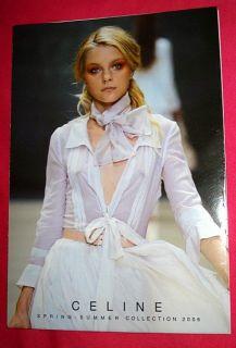 Celine Fashion Bag Catalog 2006 Look Book Jessica Stam