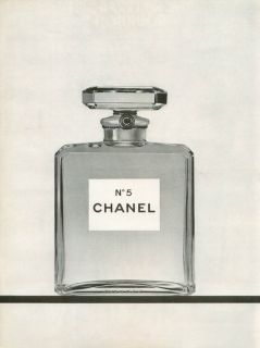 1968 Chanel No 5 Perfume Ad Vintage 8x11 Black White Print Advert