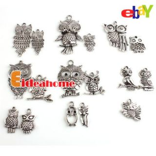 Oxide Owl Charms Alloy Pendants Beads Fit Charms Free SHIP