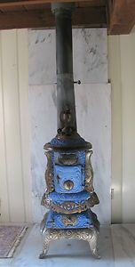 Antique Charter Oak Pot Belly Stove Boyertown PA All Orig Elegant