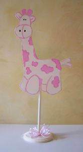Giraffe Centerpiece Baptism or Baby Shower