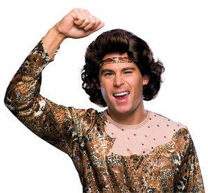 ice king brown wig short men disco chazz brunette costume accessory