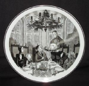 Addams Family 1st Ed 72 Christmas Plate Charles Addams
