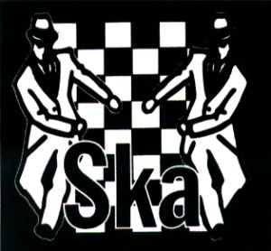 13178 Ska Logo Checkers Skanking Dancers Sticker Decal