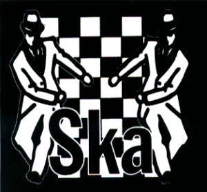 13178 Ska Logo Checkers Skanking Dancers Sticker Decal