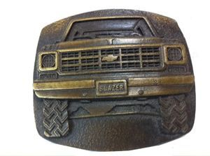 Vtg 1978 Chevy Blazer Belt Buckle Truck Car Chevrolet SUV Off Roading
