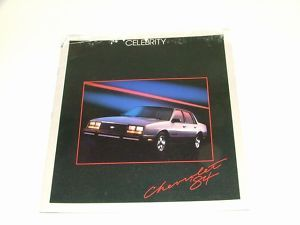1984 Chevy Sales Brochure Chevrolet Celebrity