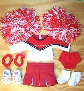 Doll Clothes fits American Girl~10PC CHEERLEADING OUFIT NEW