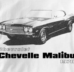 Chevy Chevelle Malibu 1970 Classic Chevrolet T Shirt XL