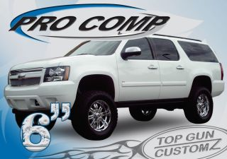 07 09 Chevy GMC 2500 Suburban 4x4 Pro Comp Lift Kit with Fox Shocks