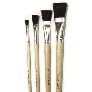 Chenille Kraft Company CK 5942 Stubby Easel Brushes 3 4 Set of 6