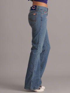 Chicago Bears Womens Medium Wash Cheerleader Boot Cut Denim Jeans