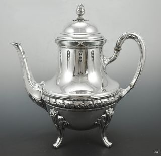 Lovely Antique .800 Silver German Tea Pot Wilhelm Binder Schwabisch