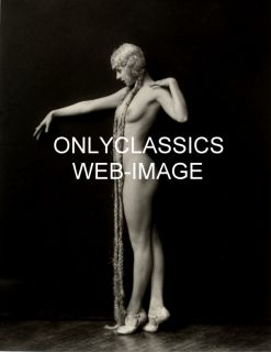 Sexy Girl Pin Up Print Cheney Johnston Ziegfeld Follies Long Hair