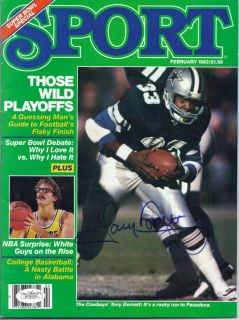 Tony Dorsett Autographed Signed Dallas Cowboys February 1983 Sport