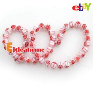 Flower Round Millefiori Glass Charms Chamilia Beads 8mm 110560