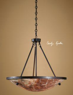 Pendant Light Hanging Marble Shade Chandelier Lighting Lamp