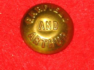 1880 James Garfield Chester Arthur Campaign Pin Pinback Button Badge