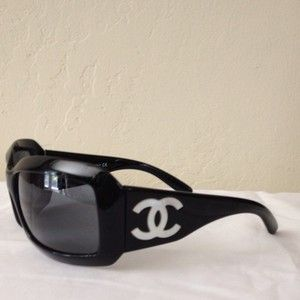 3e02a8791330c Chanel Sunglasses AUTH Black and Mother of Pearl 5076 H on PopScreen