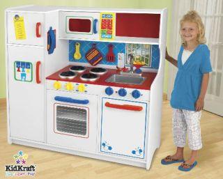 New KidKraft Wooden Kids Wood Pretend Play Toy Kitchen