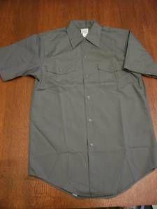 Vtg 1950s 60s Mens Lee Chetopa Gray Work Shirt New 14 S