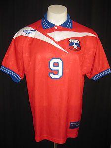 Vtg Reebok 90s Zamorano Chile Jersey Football Soccer Inter Shirt Colo