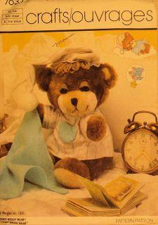 Sewing Craft Pattern 11 Teddy Beddy Bear Nightshirt