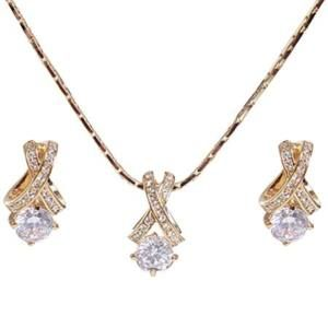18K Gold Plated Swarovski Crystal Jewelry Set 213318