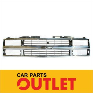 94 02 Chevy C K 1500 2500 3500 Suburban Tahoe Chrome Grille Grill