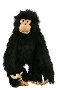 chimpanzee large full bodied hand puppet large monkey glove puppet