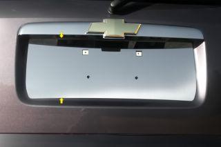 06 11 Chevy HHR License Plate Mirror Polished SS Car Chrome Trim