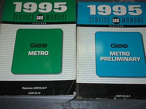 1995 Chevrolet Chevy Geo Metro Service Shop Repair Manual Set Books