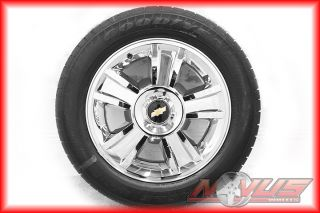 20 Chevy Tahoe LTZ Silverado GMC Yukon Chrome Wheels Goodyear Tires