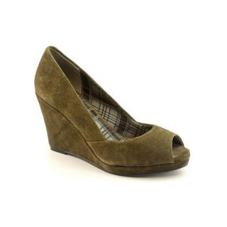 Chinese Laundry Shooter Womens Size 9 Green Peep Toe Regular Suede