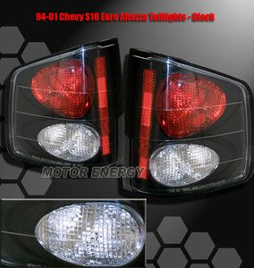 1994 2001 Chevy S10 Sonoma Truck Tail Lights Black 2000