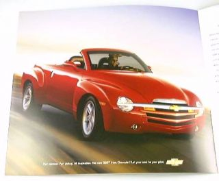 2003 03 Chevrolet Chevy SSR Truck Brochure