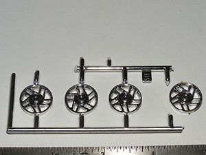 model car parts 1 25scale CHEVY CAMARO star spoked CHROME wheels 1993
