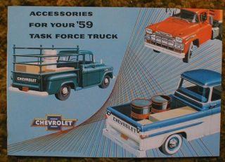 1959 Chevrolet Truck Accessories Sales Brochure 59