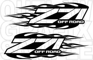 Custom Chevy Z71 Flames Decal Set Choose Your Color
